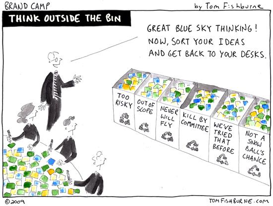 cartoon,innovation,idea selection,Tom Fishburne